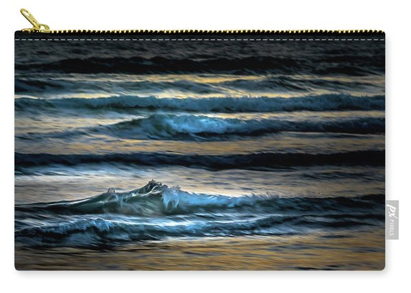 Sea Waves After Sunset Carry-all Pouch