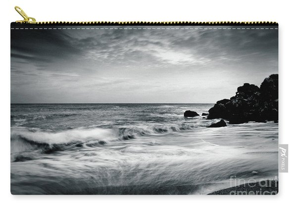 Sea Waves On The Beach Carry-all Pouch