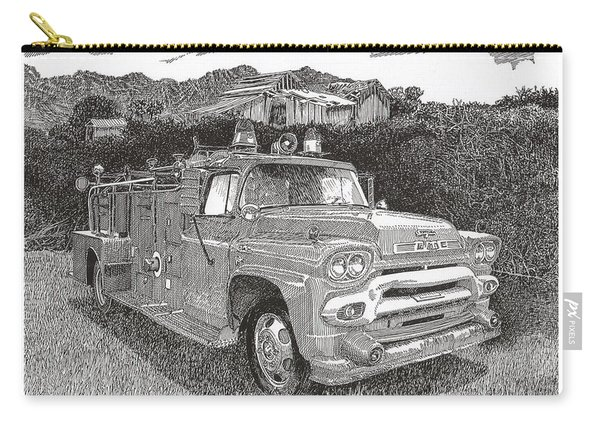 Seagrave Gmc Firetruck Carry-all Pouch