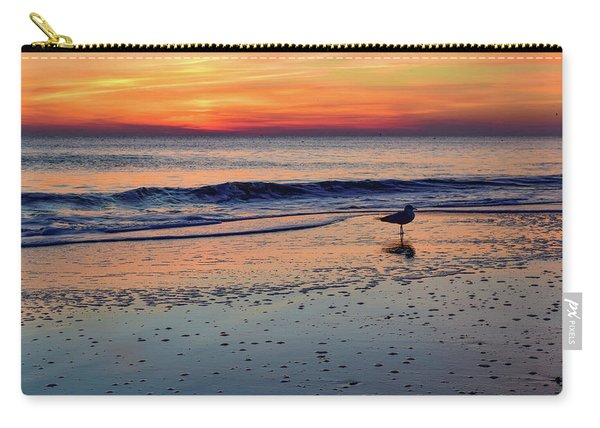 Seagull At Sunrise Carry-all Pouch