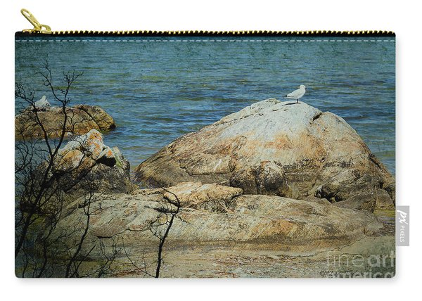 Seagull On A Rock Carry-all Pouch
