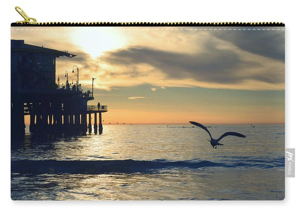 Seagull Pier Sunrise Seascape C2 Carry-all Pouch