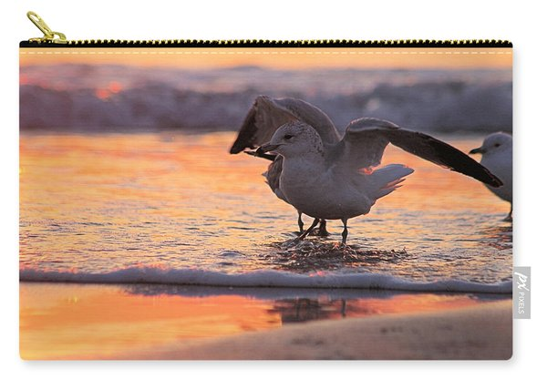 Seagull Stretch At Sunrise Carry-all Pouch