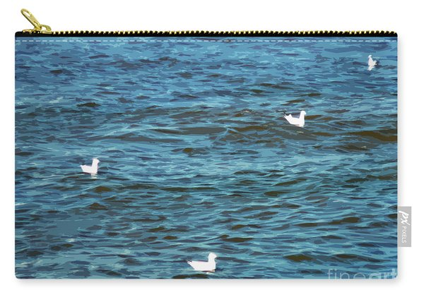 Seagulls And Water Art Carry-all Pouch