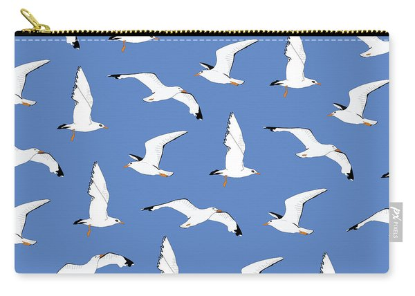 Seagulls Gathering At The Cricket Carry-all Pouch