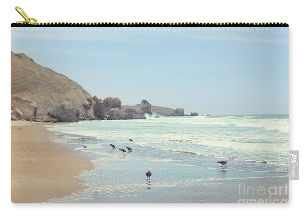 Seagulls In The Surf Carry-all Pouch