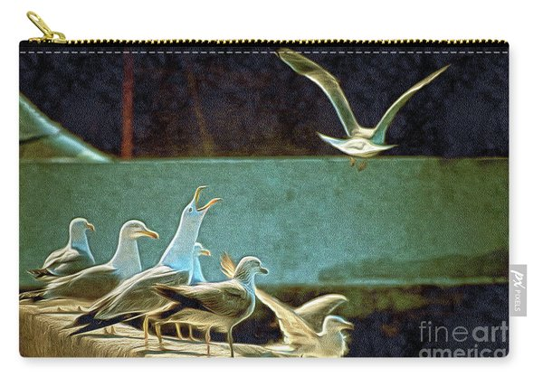 Seagulls On The Beach Carry-all Pouch
