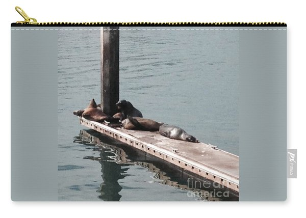 Seals At Oceanside Carry-all Pouch