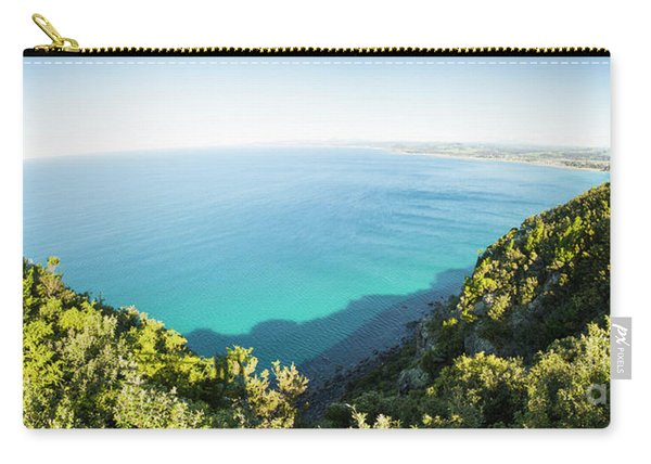 Seas Of Turquoise Blue Carry-all Pouch