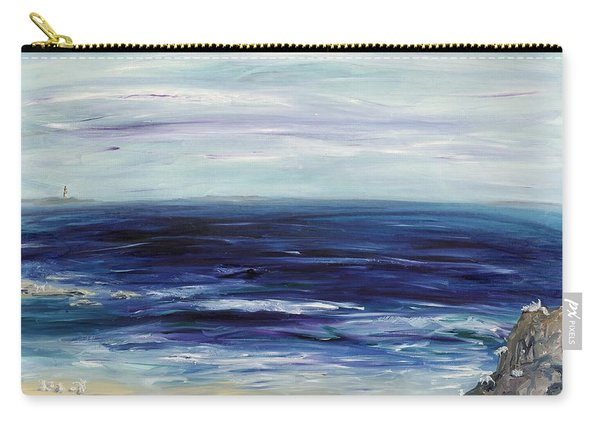 Seascape With White Cats Carry-all Pouch