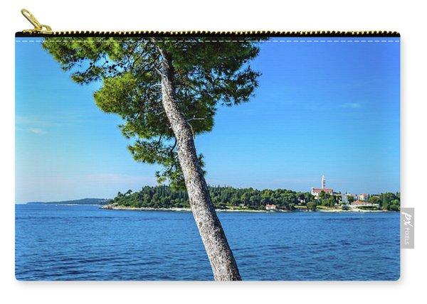 Seaside Leaning Tree In Rovinj, Croatia Carry-all Pouch