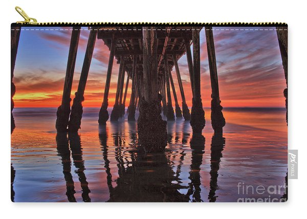 Seaside Reflections Under The Imperial Beach Pier Carry-all Pouch