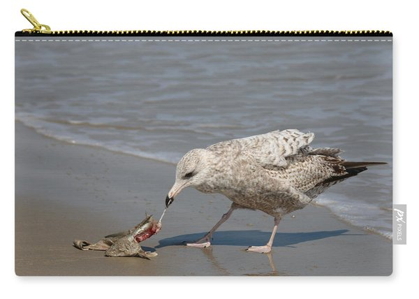 Carry-all Pouch featuring the photograph Seaside Snack - 3 by Christy Pooschke