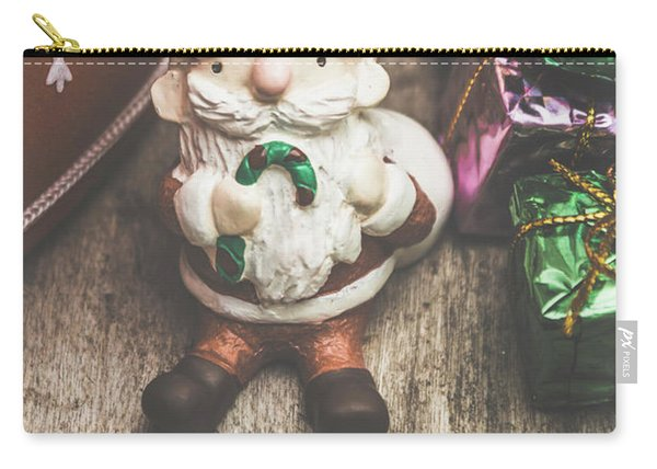 Seasons Greeting Santa Carry-all Pouch