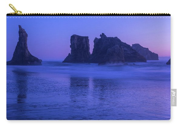 Seastack Sunset In Bandon Carry-all Pouch