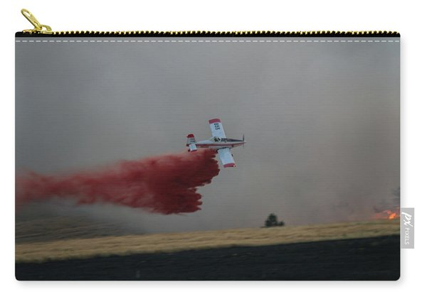 Carry-all Pouch featuring the photograph Seat Drops On Indian Canyon Fire by Bill Gabbert