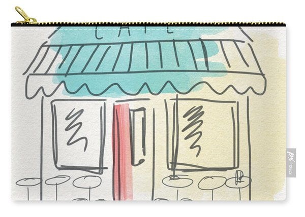 Seat Yourself Cafe- Art By Linda Woods Carry-all Pouch