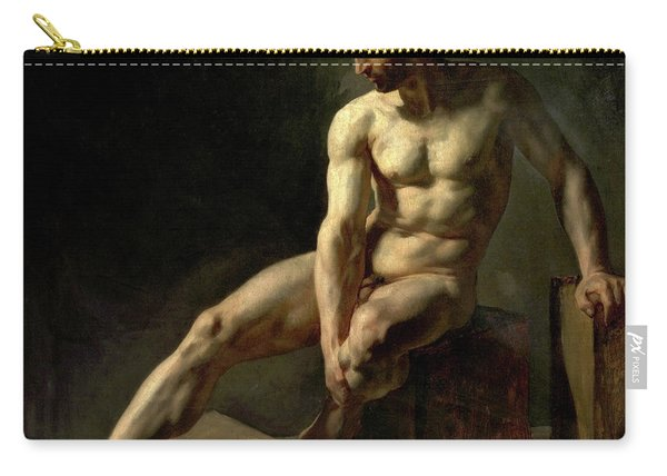Seated Male Nude Carry-all Pouch