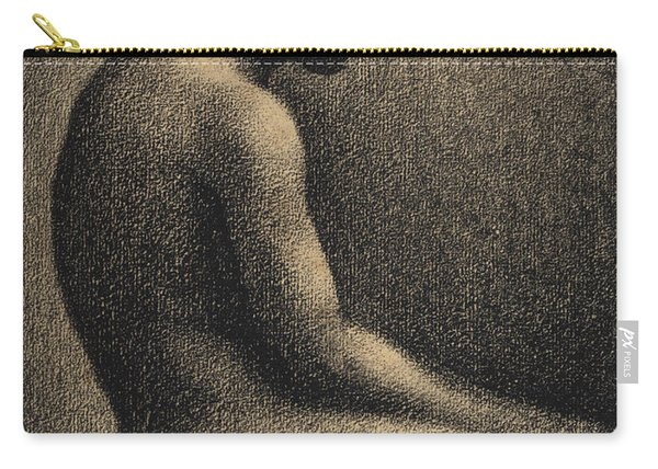 Seated Nude Study For Une Baignade Carry-all Pouch