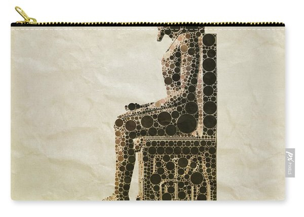Seated Pharaoh By Mb Carry-all Pouch
