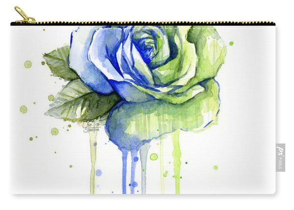 Seattle 12th Man Seahawks Watercolor Rose Carry-all Pouch