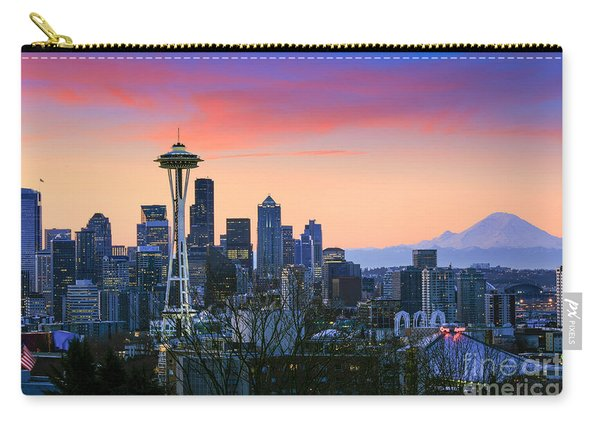 Seattle Waking Up Carry-all Pouch