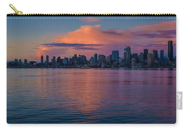 Seattle Dusk Skyline Details Reflection Carry-all Pouch