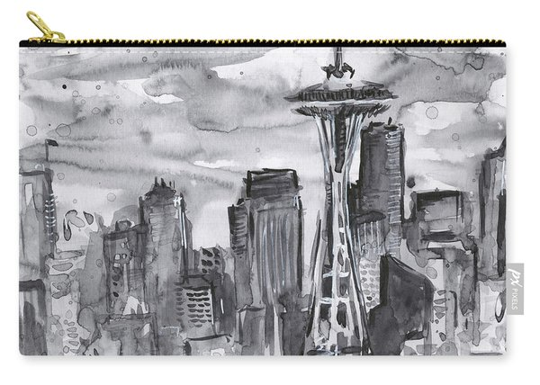 Seattle Skyline Space Needle Carry-all Pouch