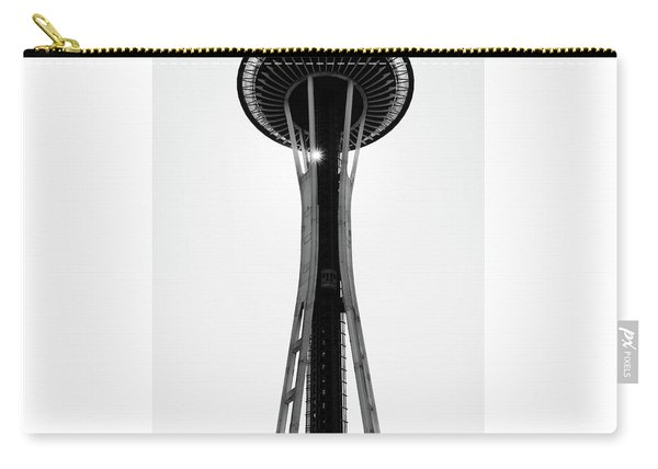 Carry-all Pouch featuring the photograph Seattle Space Needle by Michael Hope