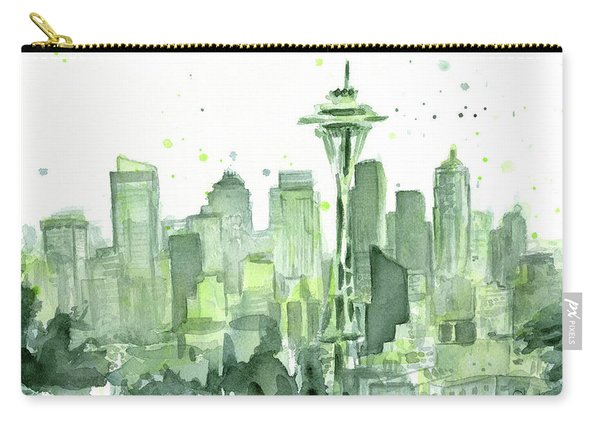Seattle Watercolor Carry-all Pouch
