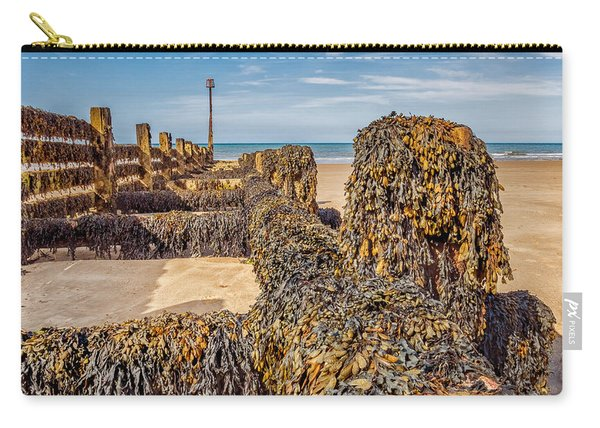 Carry-all Pouch featuring the photograph Seaweed Covered by Nick Bywater