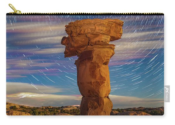 Secret Spire And Star Trails Carry-all Pouch