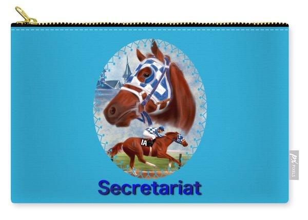 Secretariat Racehorse Portrait Carry-all Pouch