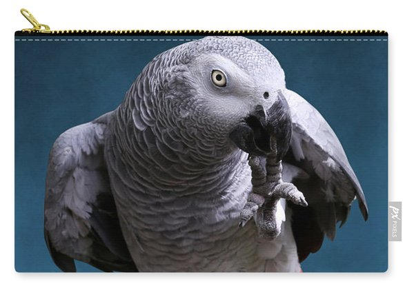 Secretive Gray Parrot Carry-all Pouch