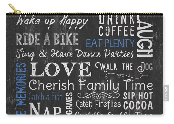 Seeger Lake House Rules Carry-all Pouch