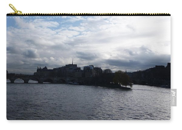 Seine River In Winter Carry-all Pouch