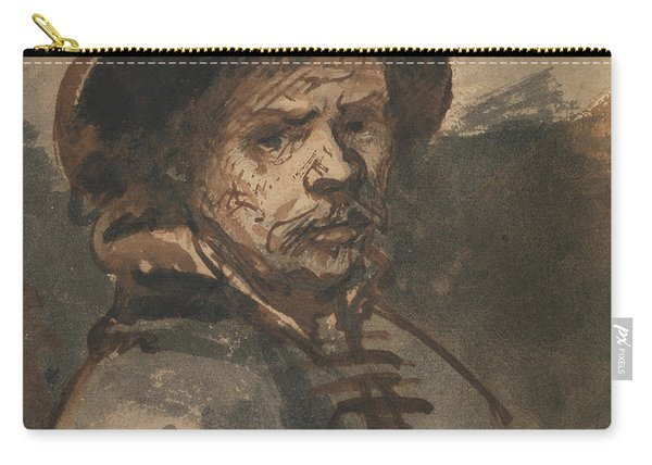 Self Portrait By Rembrandt Carry-all Pouch