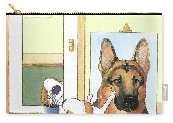 Self Portrait, German Shepherd Carry-all Pouch
