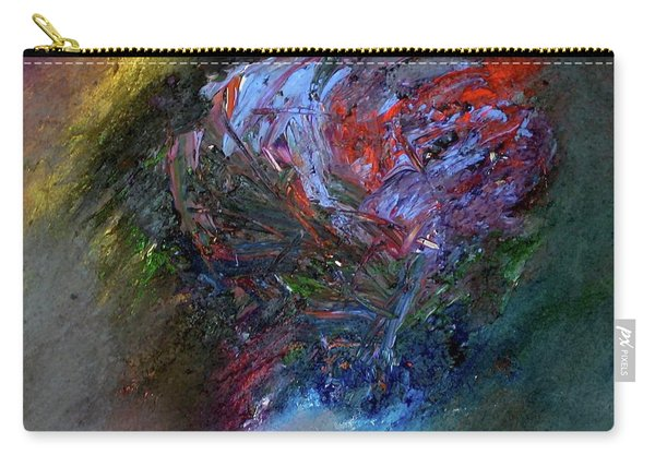 Carry-all Pouch featuring the painting Self  Portrait  by Michael Lucarelli
