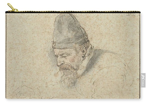 Self Portrait Of Henry Avercamp, Hendrick Avercamp, 1592-1629 Carry-all Pouch
