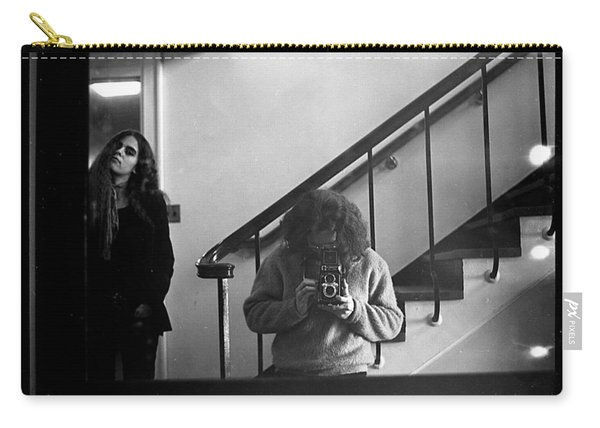 Self-portrait, With Woman, In Mirror, Full Frame, 1972 Carry-all Pouch