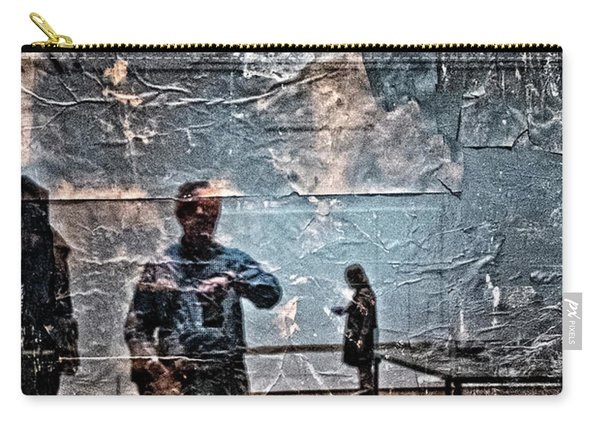 Selfie In Black Painting Carry-all Pouch