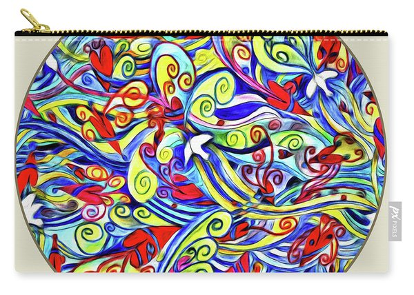 Semi Abstract Paintings Button Carry-all Pouch