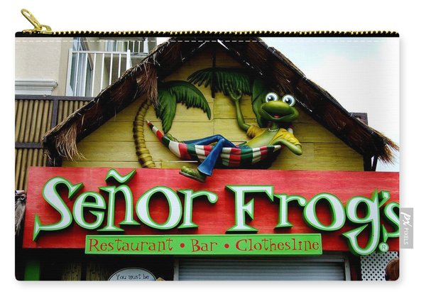 Senor Frogs Carry-all Pouch