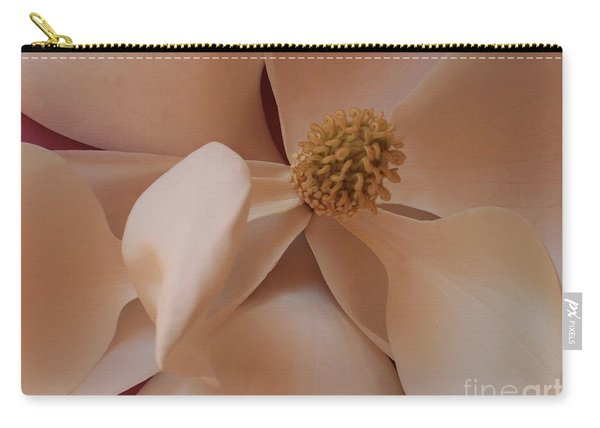 Sepia Magnolia Macro Carry-all Pouch