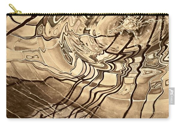 Sepia Ripples Carry-all Pouch