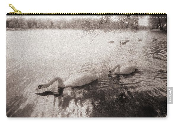 Sepia Swans Carry-all Pouch