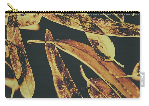 Sepia Toned Image Of Floating Eucalyptus Leaves Carry-all Pouch