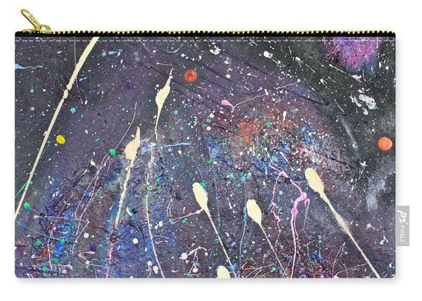 Carry-all Pouch featuring the painting Septuplets by Michael Lucarelli