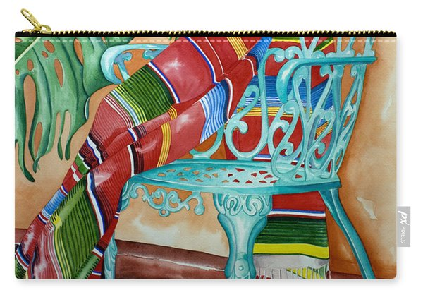 Serape On Wrought Iron Chair II Carry-all Pouch
